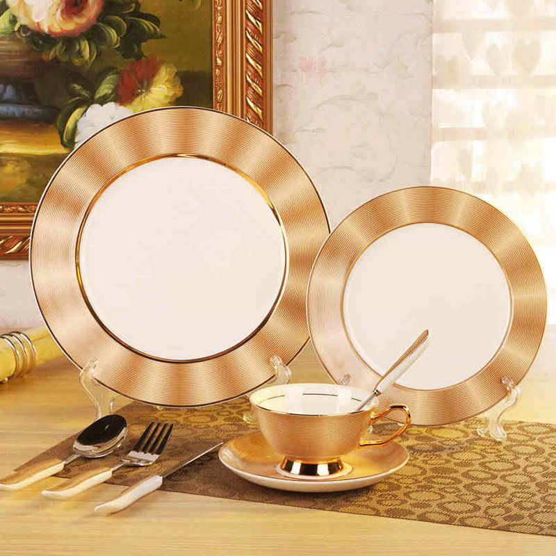 Royal Bone China Dinner Set Ceramic Dishes For Restaurant 11\ 8\  Plates + Coffee & Royal Bone China Dinner Set Ceramic Dishes For Restaurant 11\