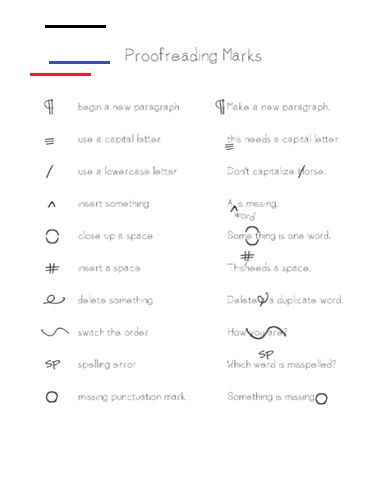 Proofreading Marks > Life Your Way proofreading guide All