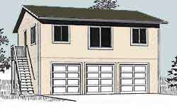 Apartment Garage Plan - 1632-1 by Behm Design | Ideas for New ...