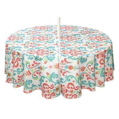 Destination Summer Odesa 70 Round Indoor Outdoor Tablecloth