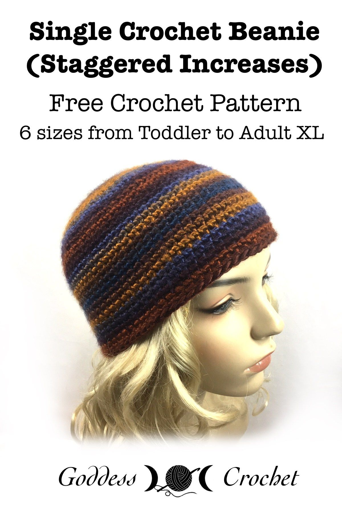 Single Crochet Beanie (Staggered Increases) - Free Crochet Pattern ...