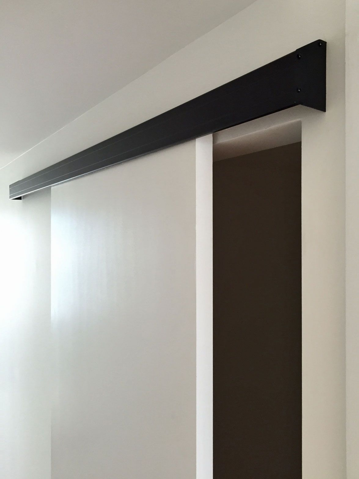 Black Wall Mount Track Cavity Sliding Doors Sliding Door Track