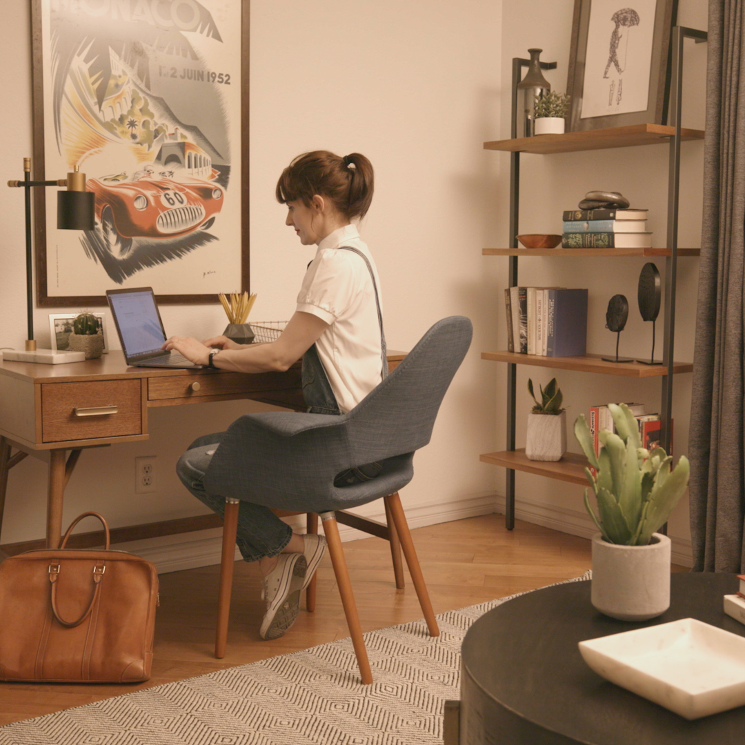 An Office Refresh That Will Make You Want to WFH  ~ Weekend Refresh is part of Diy office decor - Transform your home office from an ordinary extra room with a desk into an extraordinary workspace oasis in just 48 hours