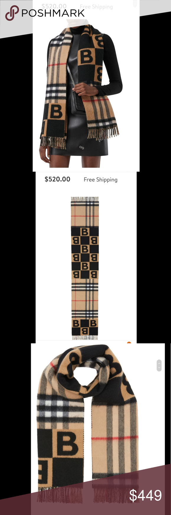 Burberry B Scarf New with tags Accessories Scarves & Wraps