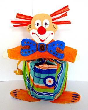 clowns aus dosen als partygeschenke fasching basteln meine enkel und ich made with. Black Bedroom Furniture Sets. Home Design Ideas