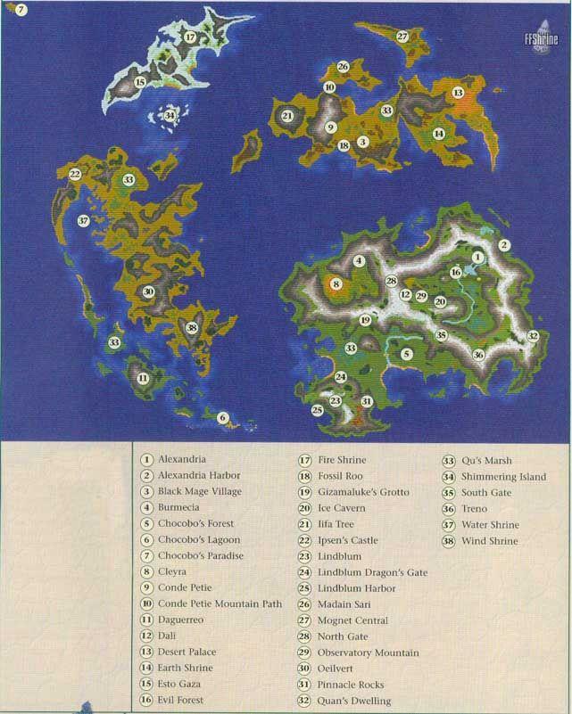 FF IX map | final fantasy | Pinterest | Final fantasy ix, Final ...