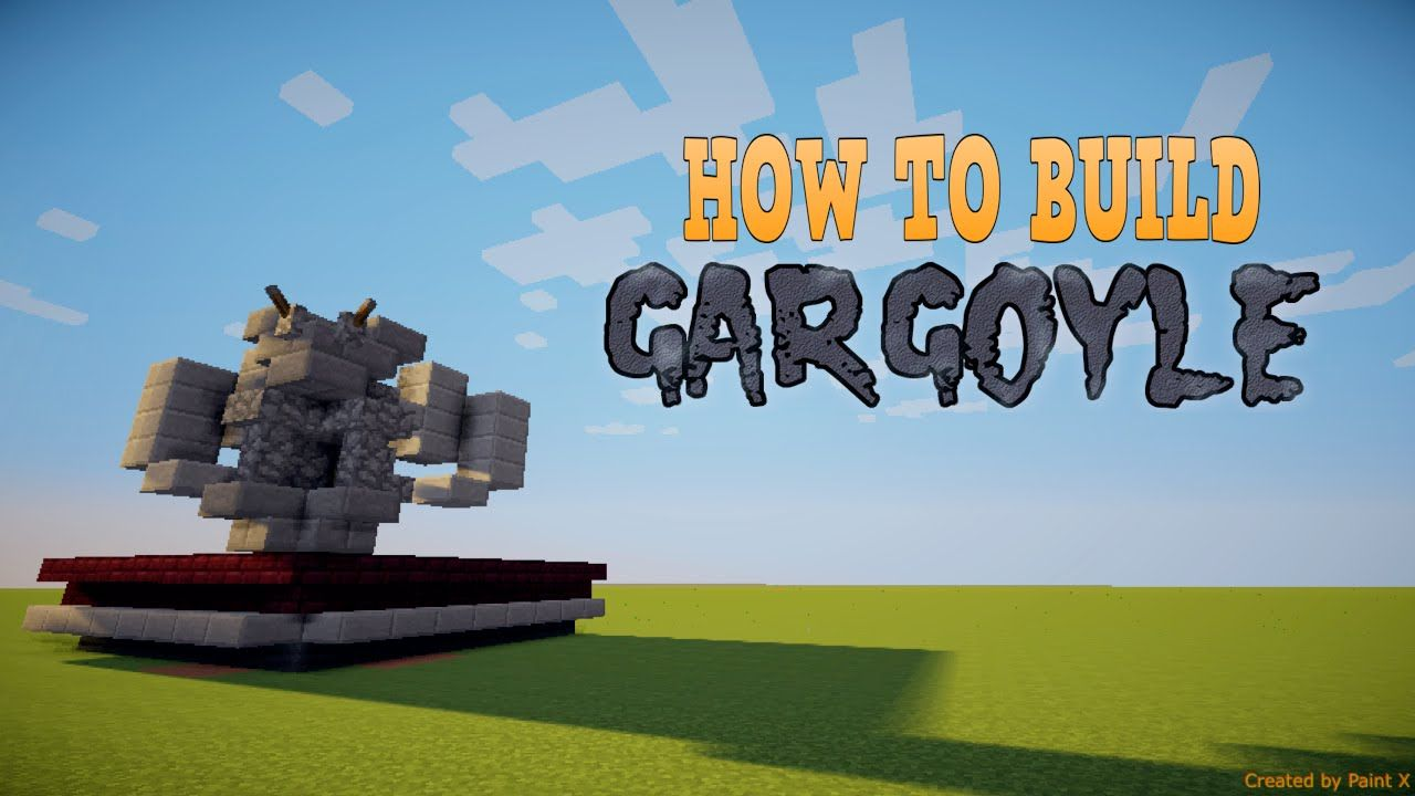 How to build a gargoyle minecraft build tutorial youtube minecraft build tutorial youtube baditri Image collections