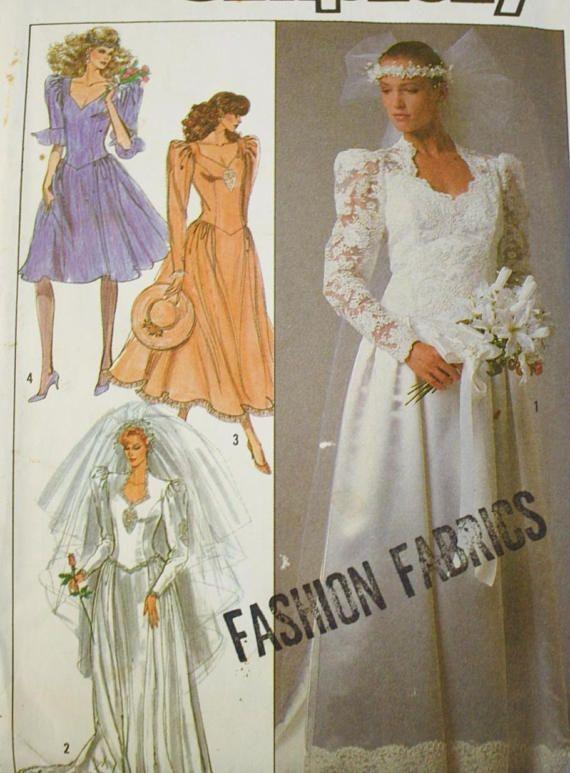 Simplicity 8414, Wedding Dress Sewing Pattern, Bridesmaid Dress ...