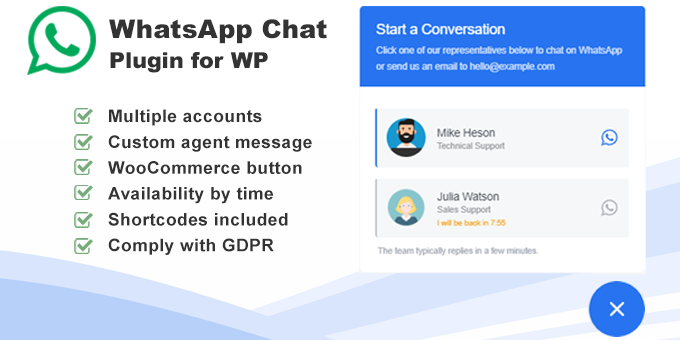 Whatsapp Click To Chat Plugin For Wordpress Plugins Custom Message Chat