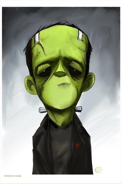 Pin By Vicki Sherry On Halloween Fall Frankenstein Art Halloween Art Horror Art