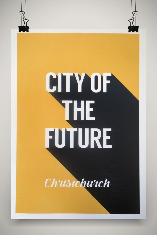 City of the Future Positive Christchurch Print by Marie Ockleford