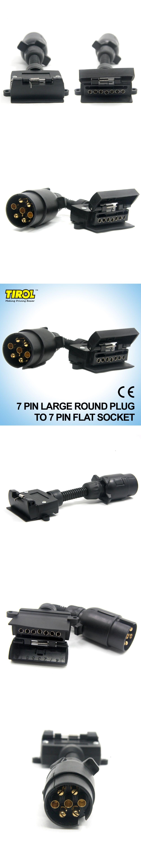 TIROL T21579a 7 Pin Plug Connector Trailer Boat Truck Car Adaptor 7 ...