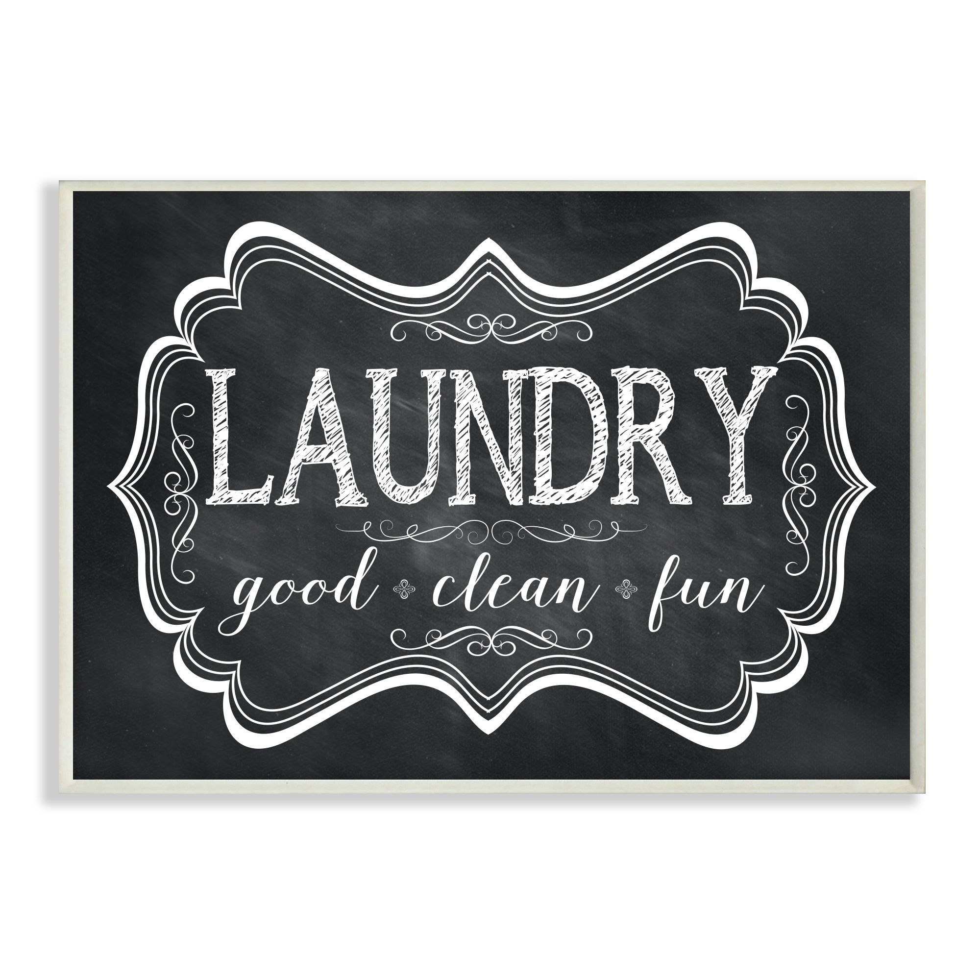 Laundry Wall Plaque Laundry Good Clean Fun' Chalkboardlook Wall Plaque Artstupell