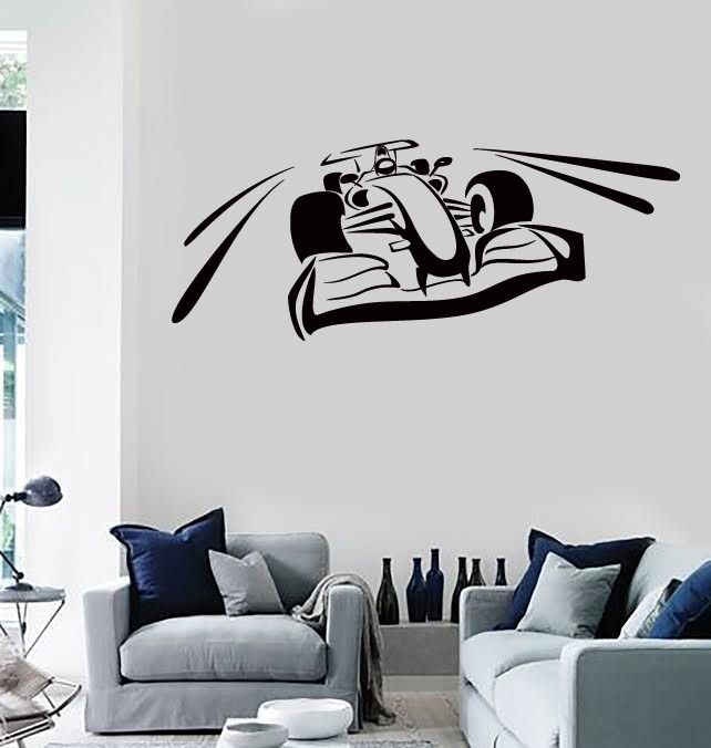 Wall Stickers Vinyl Karting Speed Car Formula Extreme Sport - Formula 1 wall decals