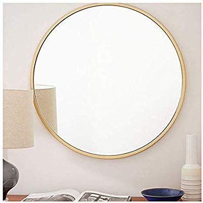 Beauty4u Gold Round Mirrors Of Glass 40cm Metal Framed Hd Wall Mirror For Vanity Bathroom Or Bedroom Diameter 15 Round Gold Mirror Mirror Wall Round Mirrors