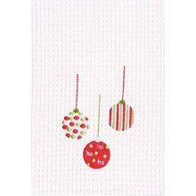 Christmas kitchen towel -- easy applique