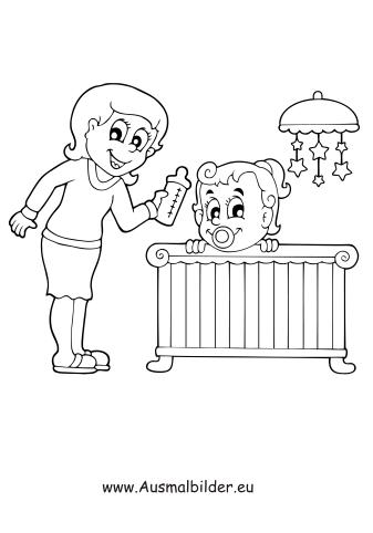 Ausmalbild Mutter Mit Baby Zum Kostenlosen Ausdrucken Und Ausmalen Ausmalbilder Malvorlagen Kindergarten Grundschu Ausmalbilder Ausmalen Ausmalbild
