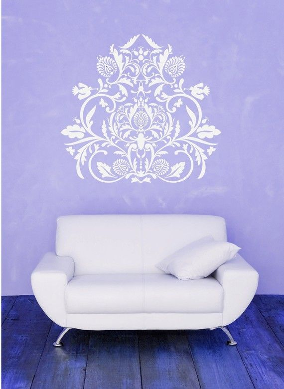 Indian Medallion, India Wall Decal, Leaves, Leaf, Swirl Artwork ...
