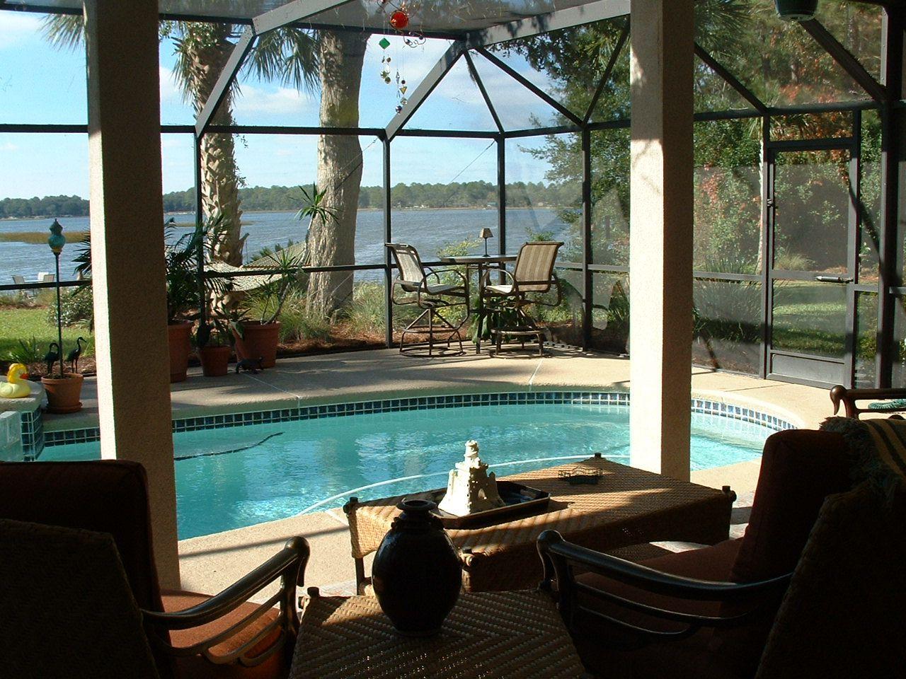 my dream backyard patio with lanai pool u0026 killer view home