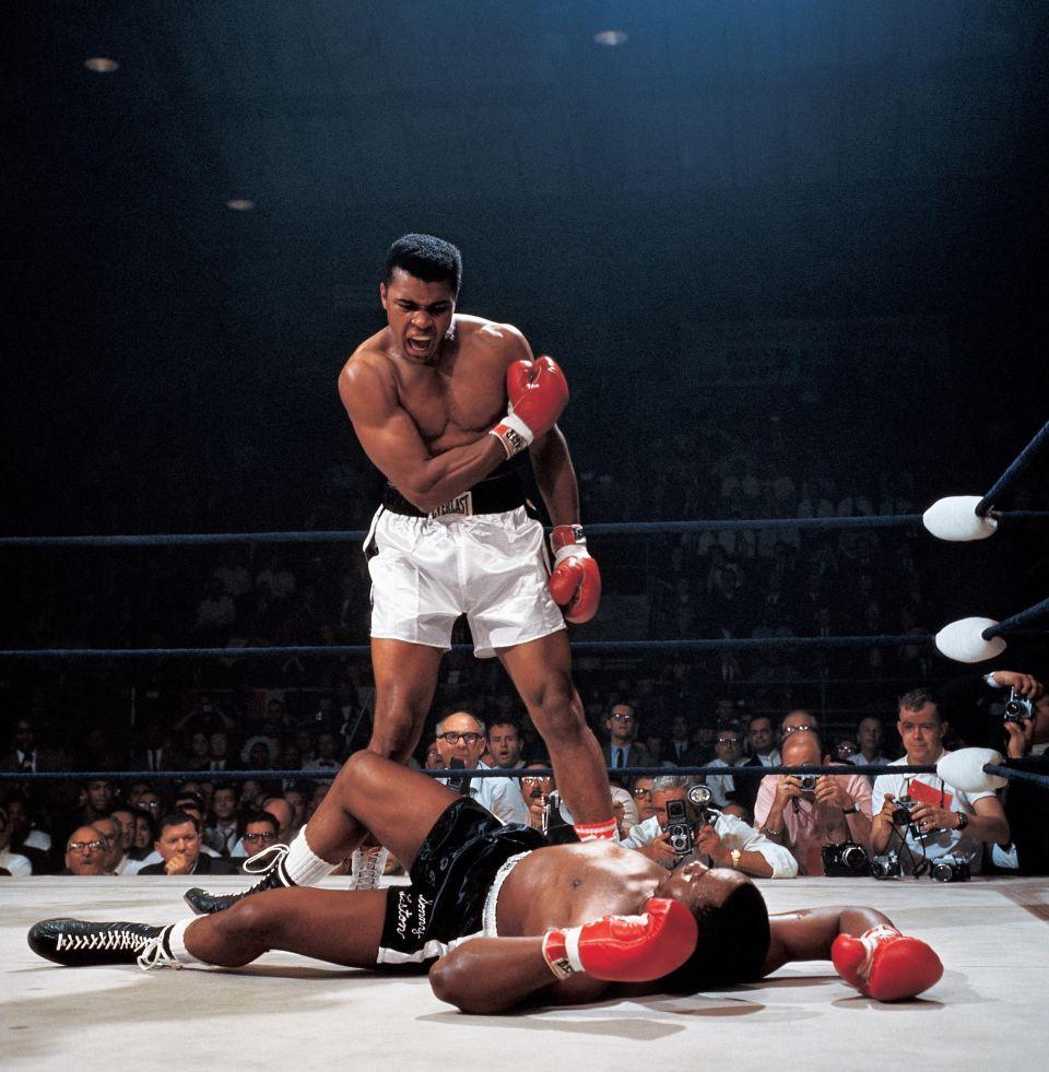 Ali v. Liston | ideas para cuadro | Pinterest | Boxeo, Deporte y ...