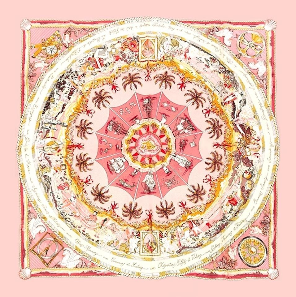 a8d21ec651d9 Per Astra Ad Astra Hermès Silk Scarf  Shades of Pink   Vintage Carré     vintagecarre   www.vintagecarre.com