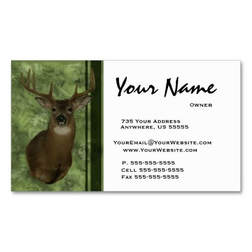 Deer taxidermy business cards green taxidermy business cards deer taxidermy business cards green colourmoves