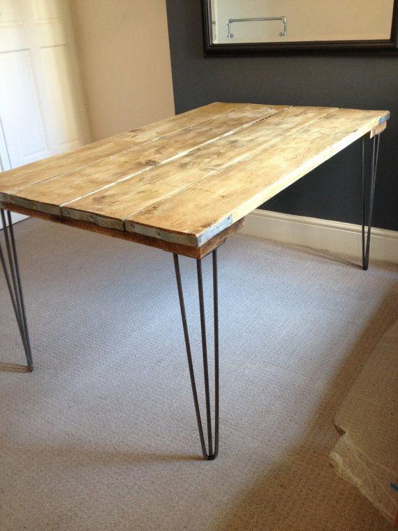 Chafaudage industriel conseil table manger avec les - Relooking salle a manger rustique ...