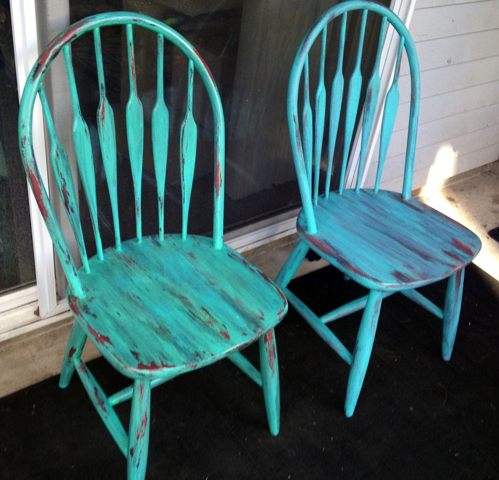 Old kitchen chairs free I turned into fab refurbished furniture. I ...
