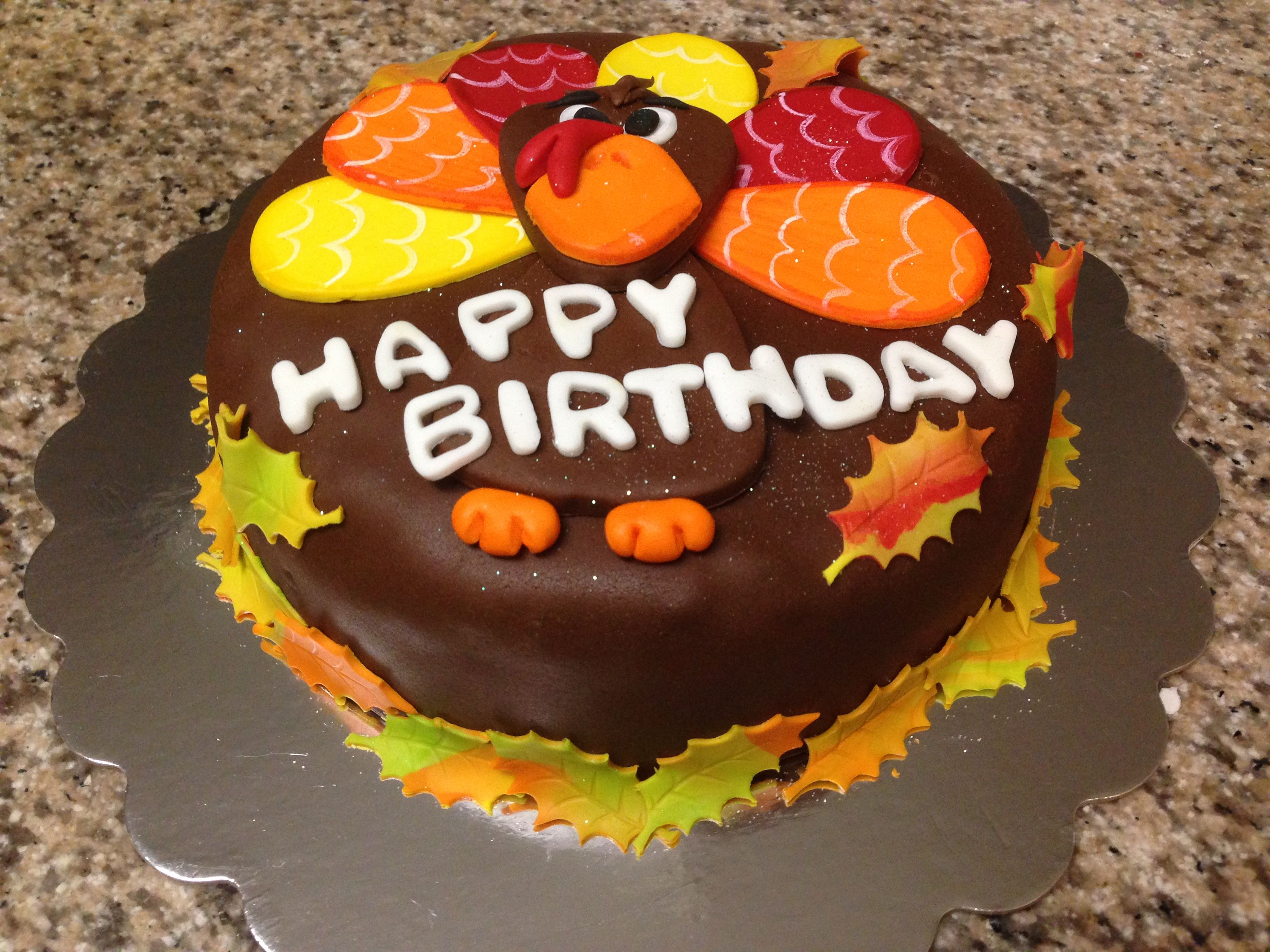 Thanksgiving Cake With Images Happy Birthday Cakes Cake