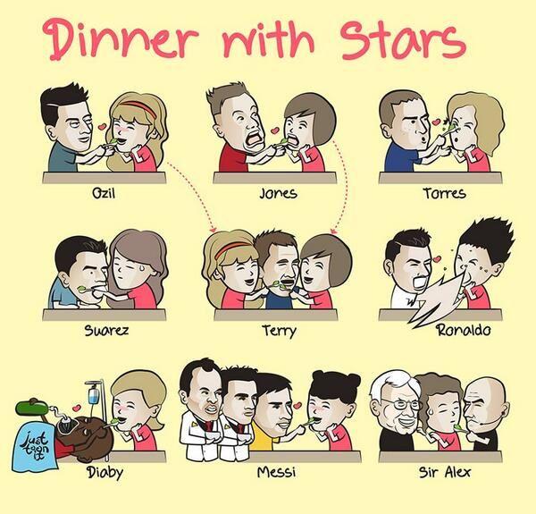 Un repas accompagné par les footballeurs ! - http://bit.ly/1KVP8sJ