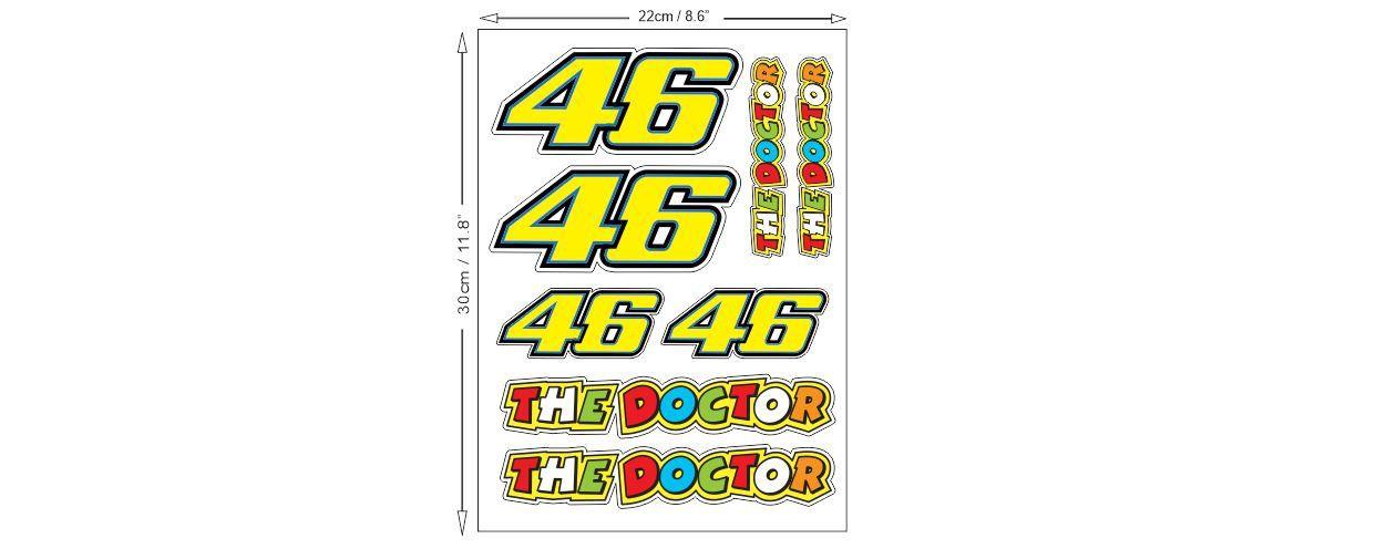 1 Set Valentino Rossi 46 Sticker Aufkleber Autocollants