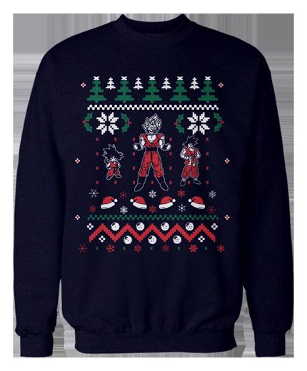 The Christmas Sweater Christmas Sweaters Sweaters Dragon Ball Z Shirt