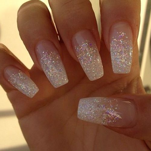 Best Glitter Nails 44 Nails That Sparkle In The Light Pinterest