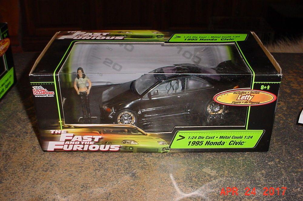 Racing Champions Fast And Furious 1995 Honda Civic With Letty Figure 1 24th Honda Civic Civic Honda