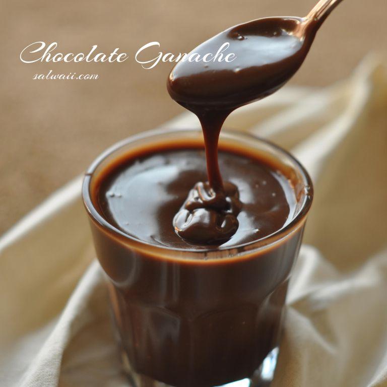 جاناش الشوكولاته Chocolate Ganache Chocolate Chocolate Fondue Desserts