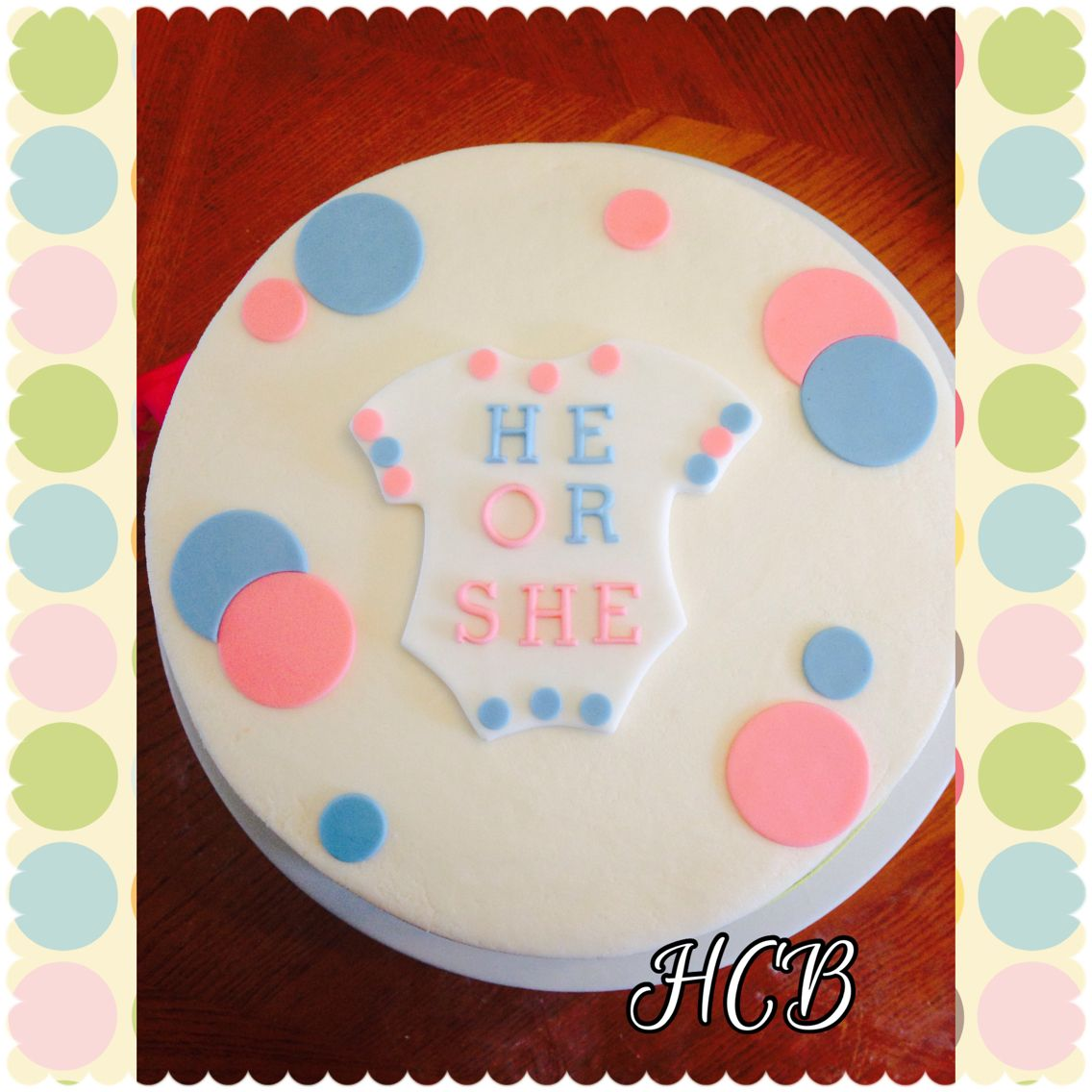Gender reveal cake.  Pssst, it was a SHE ;)