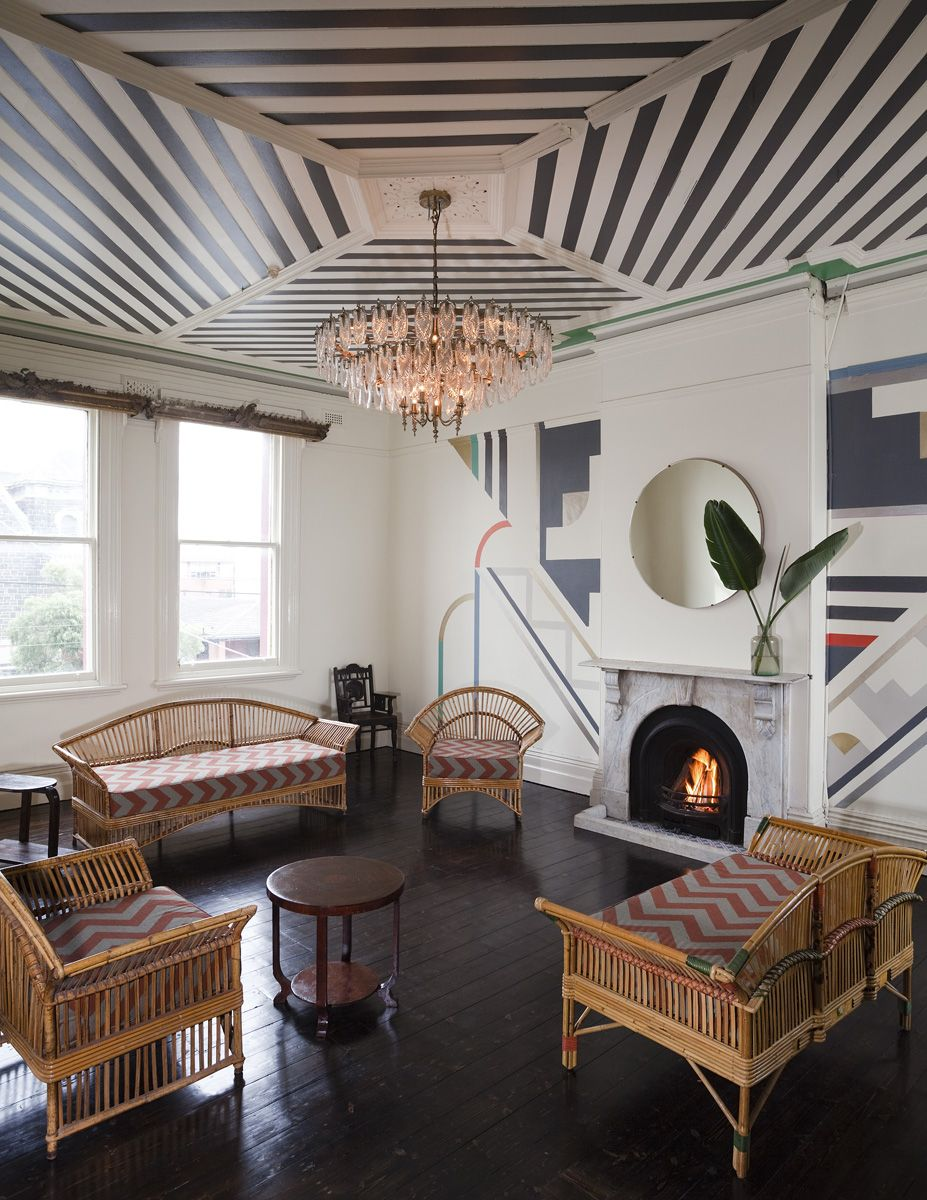 Art Deco Interior.New Brunswick Bar Takes Design Cues From American West Coast Art