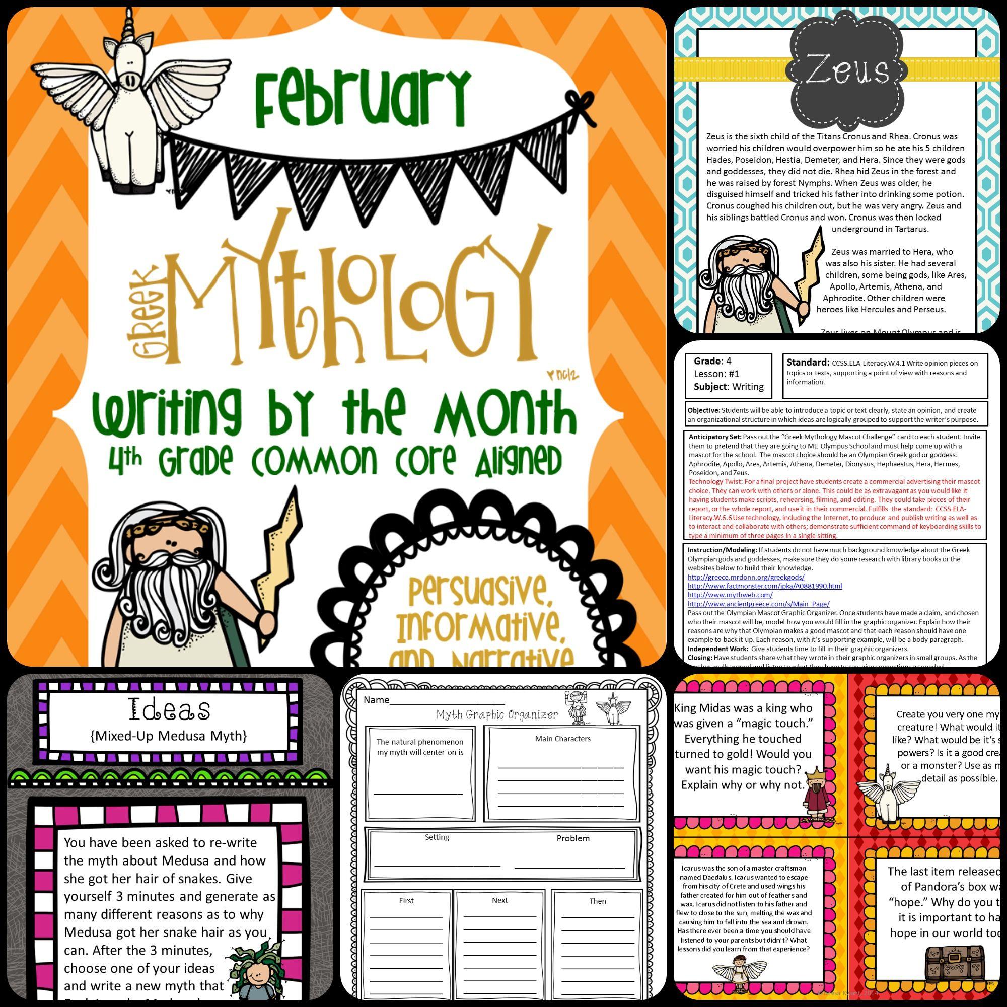 medium resolution of Writing Myths for 4th Grade   Writing myths