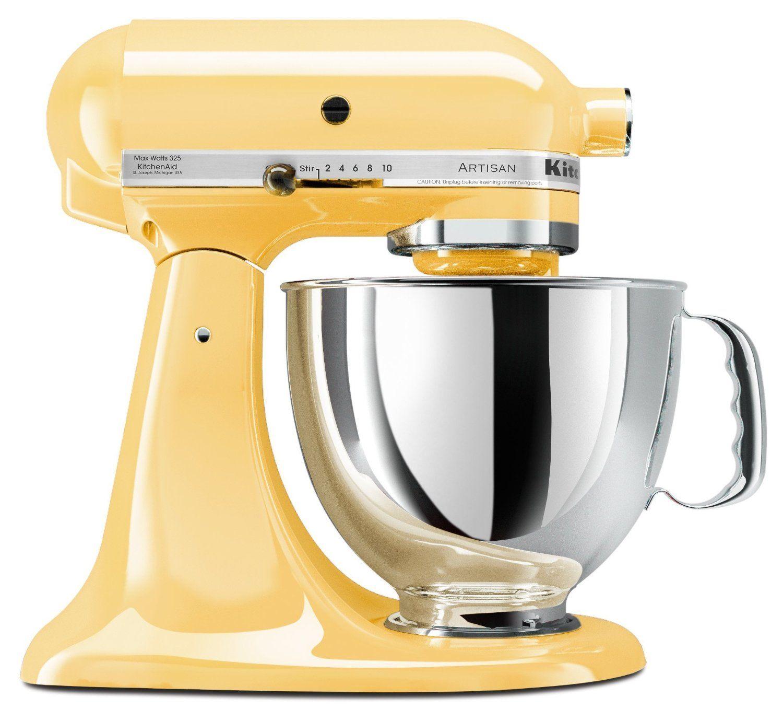 kitchenaid artisan series 5 quart mixer majestic yellow
