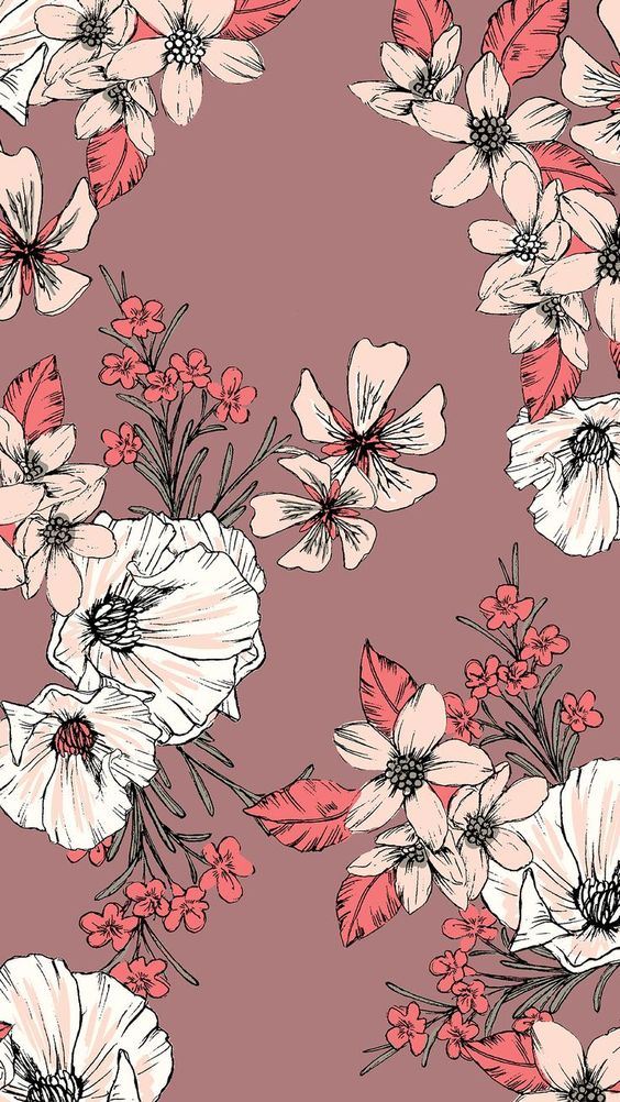 61 Stylish Iphone Wallpapers For You To Choose From Page 45 Of 61 Floral Pattern Wallpaper Black Floral Wallpaper Floral Wallpaper