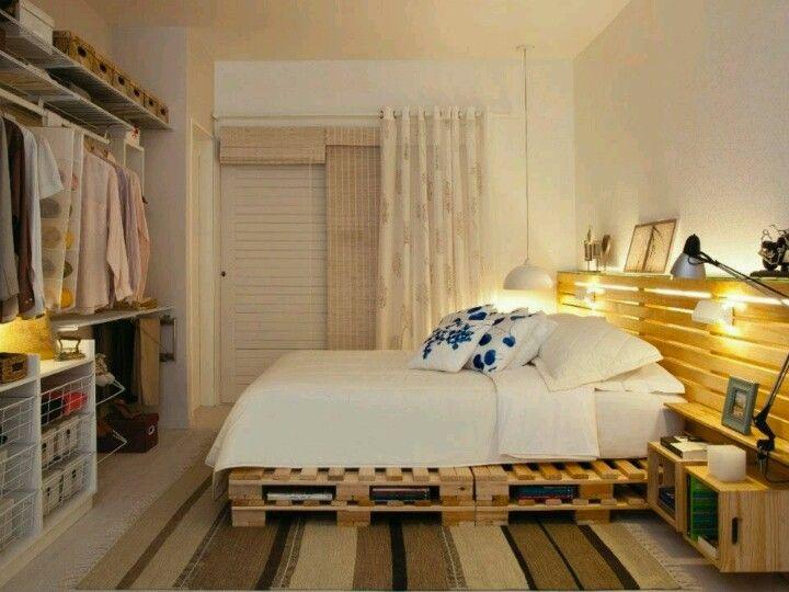bonita recamara | hogar | Pinterest | Recamara, Muebles de tarimas y ...