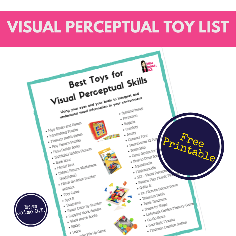 Miss Jaime O T S Favorite Visual Perception Toys For Children Visual Perception Pediatric Therapy Visual