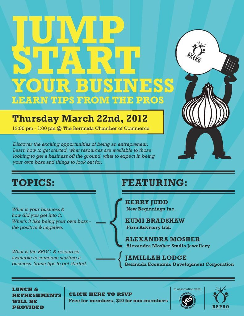 jumpstartyourbusinesseventflyer Poster inspiration – Event Flyer