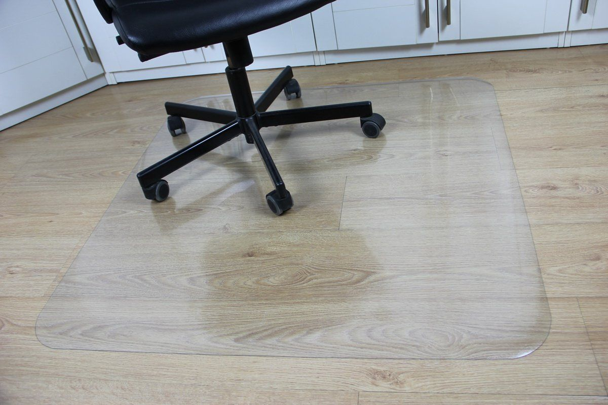 Office Desk Chair Mat for Hard Wood Floor Thick PVC Matte