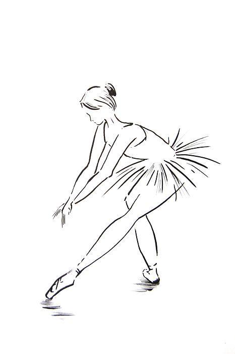 Ballerina. Minimalist drawing.