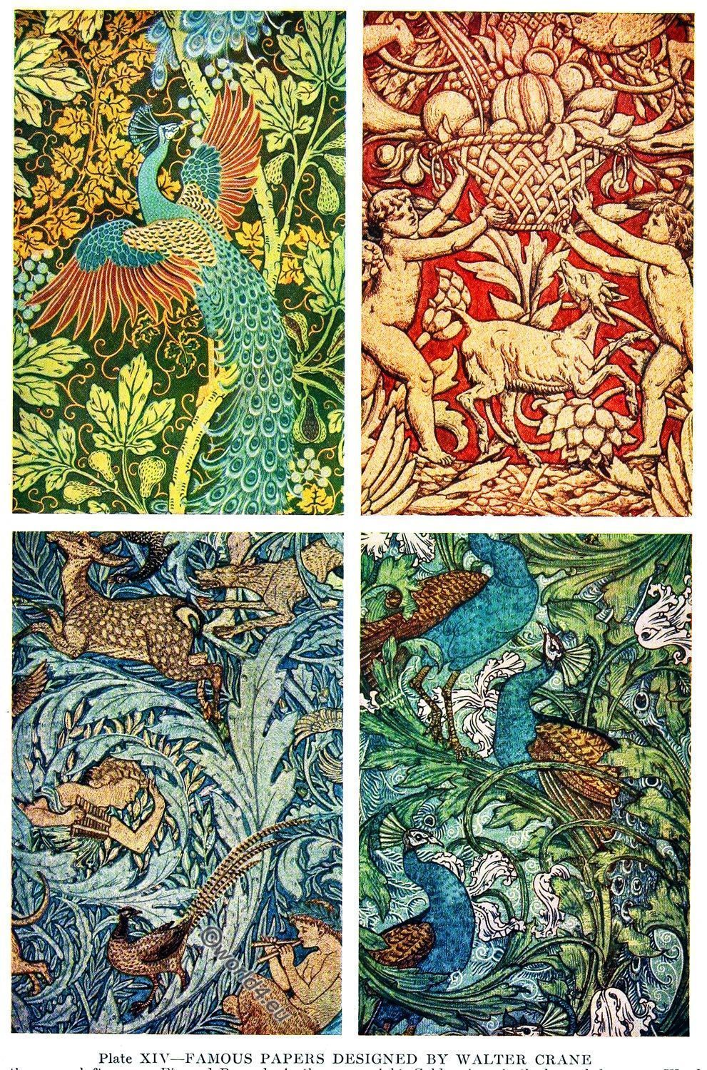 Famous Papers Designed By Walter Crane Arts And Crafts Movement Art And Craft Videos Art And Craft Design Summer Arts And Crafts
