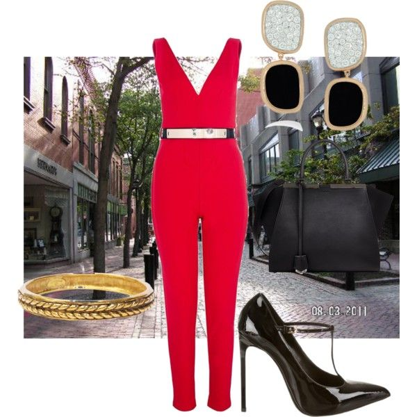 Street rendezvous by mollylsanders on Polyvore featuring Quiz, Yves Saint Laurent, Fendi, Roberto Coin and Chanel