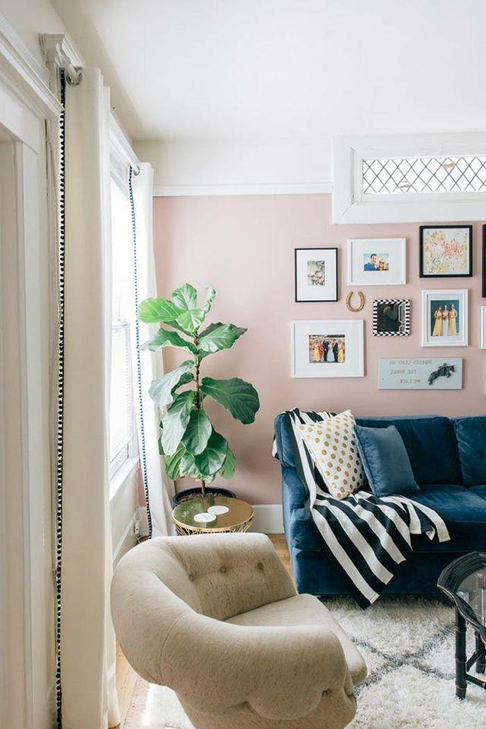 ▷ 1001 + idées déco originales pour le salon rose et gris | 2018 ...