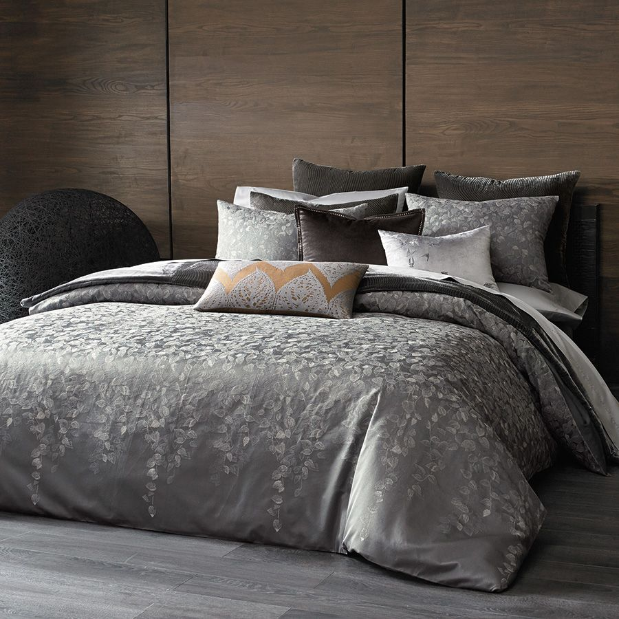 Kevin O'Brien Falling #Leaves #Duvet Collection. #gray #silver #glam #bedding #luxury