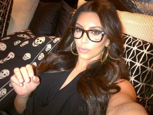12d8ef75cbc Kim Kardashian Wearing Eye Glasses - Eyeglasses on Kim Kardashian ...